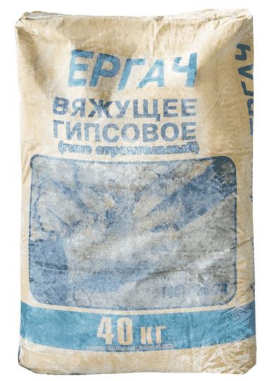 Гипс строительный Г-5, Ергач, 40кг (алебастр)